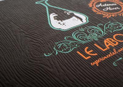 Flyer papier texture bois